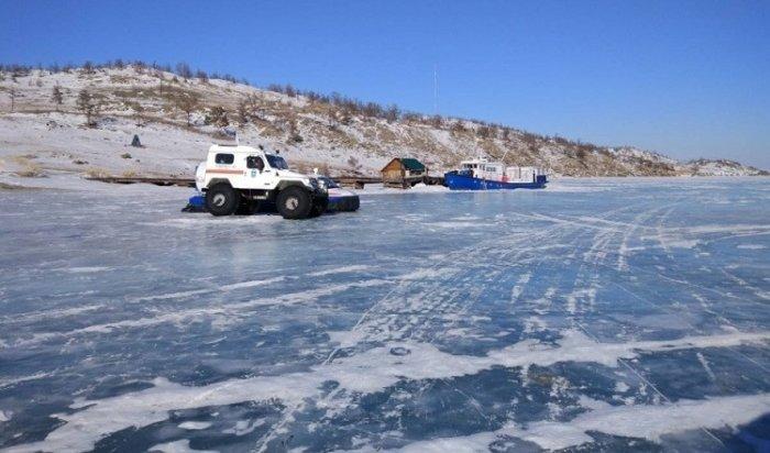 Наостров Ольхон открыли ледовую переправу