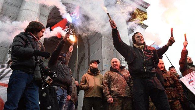 Неонацисты напали наздание Россотрудничества вКиеве