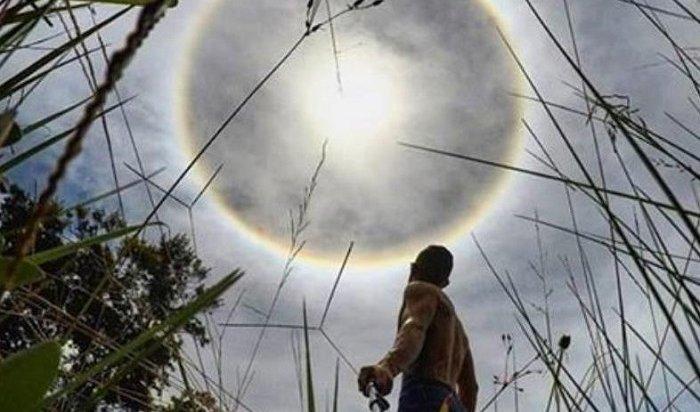 Оптический феномен гало поразил жителей Бразилии (Видео)