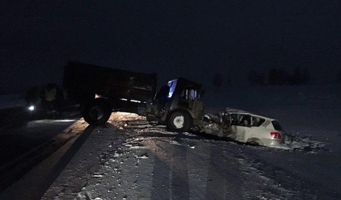 В Зиминском районе в крупном ДТП погибли два человека, еще трое пострадали