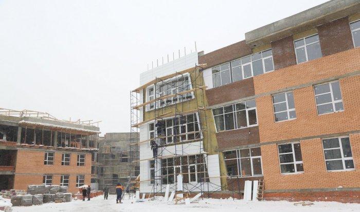 В Иркутске в здании школы №19 строители приступили к внутренним работам