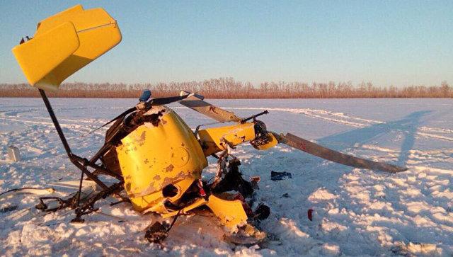 Под Новосибирском разбился самодельный легкомоторный вертолёт