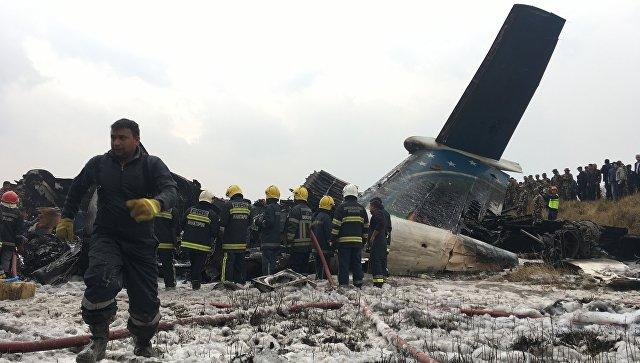 В Непале разбился пассажирский самолёт, 49 человек погибли