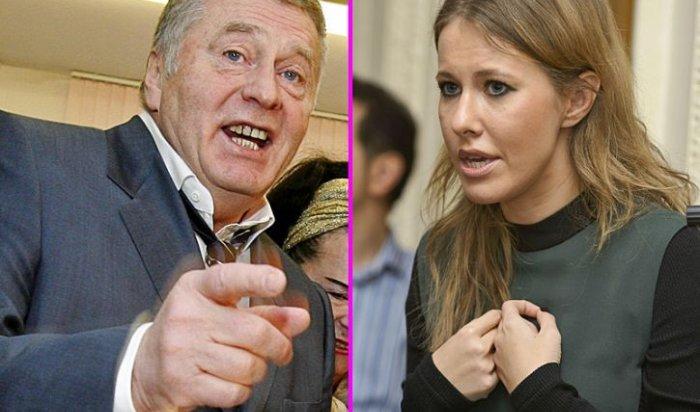 Жириновский во время дебатов довел Собчак до слез