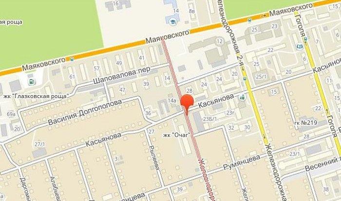 Движение транспорта закрыли наулице 4-й Железнодорожной вИркутске до11апреля