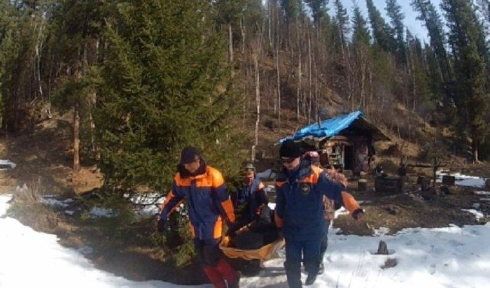 Байкальские спасатели эвакуировали навертолете охотника изотдаленного зимовья вБурятии (Видео)