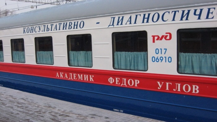 Медицинский поезд «Академик Федор Углов» отправится вСлюдянский, Шелеховский иУсольский районы