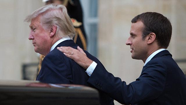 Трамп иМакрон обсудили предполагаемую химатаку вСирии