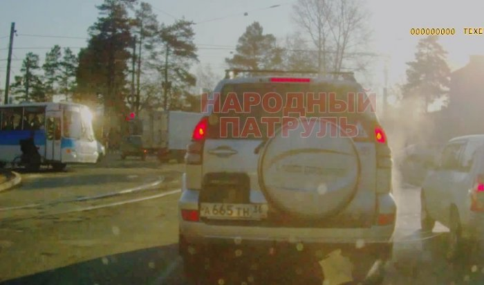 В Сети появилось видео наезда на велосипедиста в Ангарске