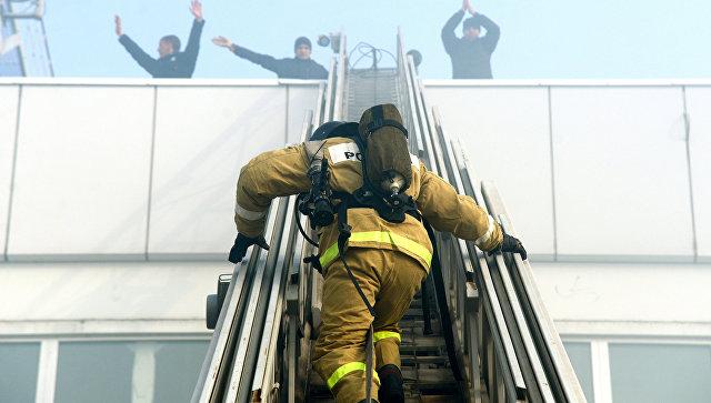 В Нальчике зафиксирован пожар на центральном рынке