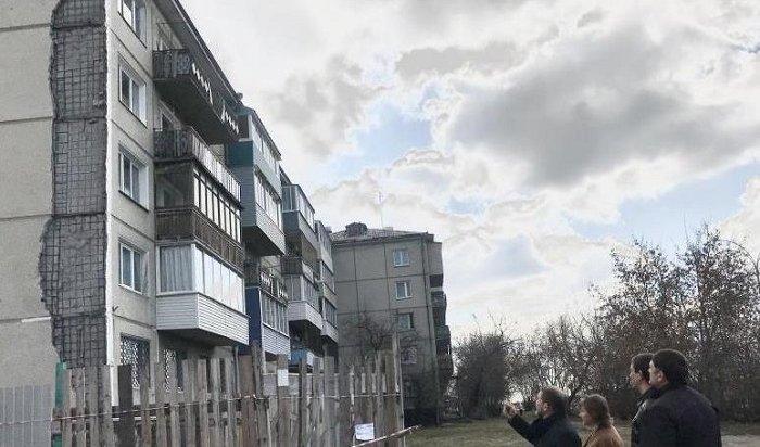 Стену дома №36 вАнгарске, где рухнула облицовочная плита, отремонтируют летом