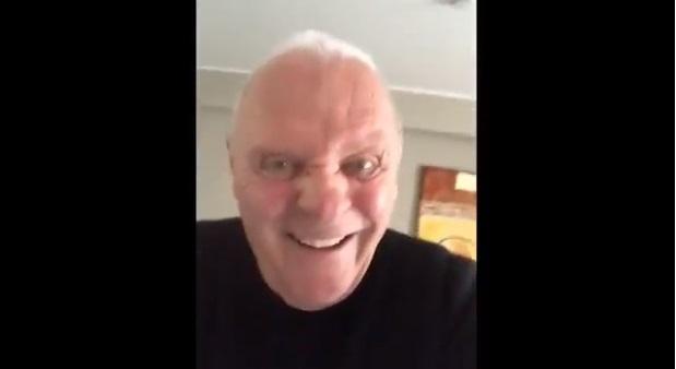 Энтони Хопкинс удивил поклонников странным видео