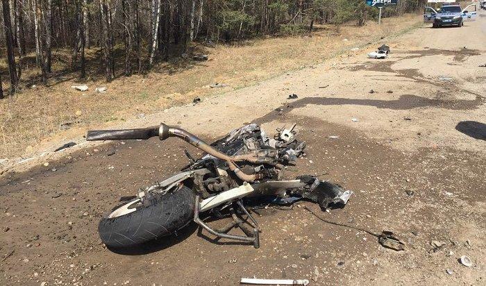Мотоциклист погиб при столкновении сКАМАЗом наКачугском тракте