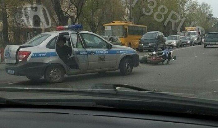 Мотоциклиста сбили наулице Маяковского вИркутске