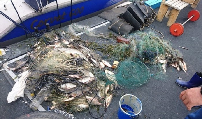 ВПриангарье полицейские изъяли свыше двух километров рыболовных сетей заодин день