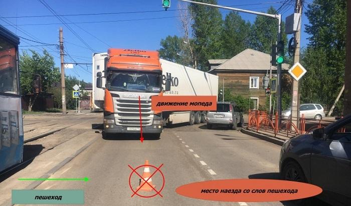 ВИркутске водитель мопеда наехал нашкольницу