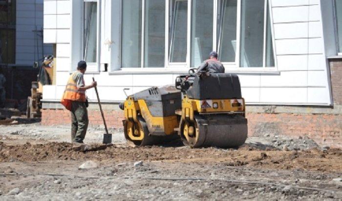 ВИркутске начали благоустраивать территорию уновой школы №19