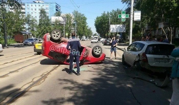 Два человека пострадали вДТП наулице Депутатской вИркутске (Видео)