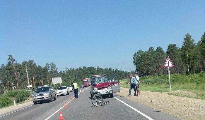 ВУсольском районе водитель «Тойоты» сбил 17-летнего велосипедиста