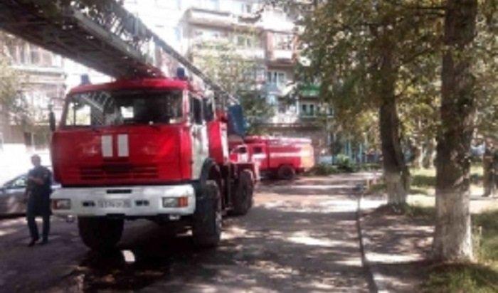 Оконная рама загорелась вЦРБ Черемхово
