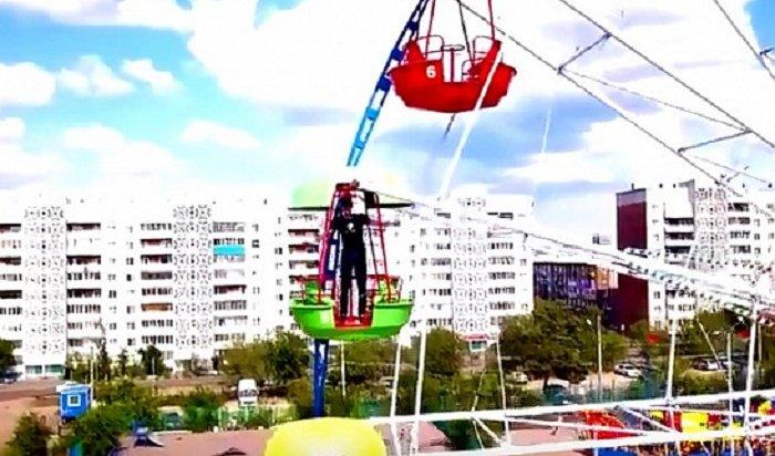 Дрон снял на видео, как певец изУлан-Удэ танцует наколесе обозрения (Видео)