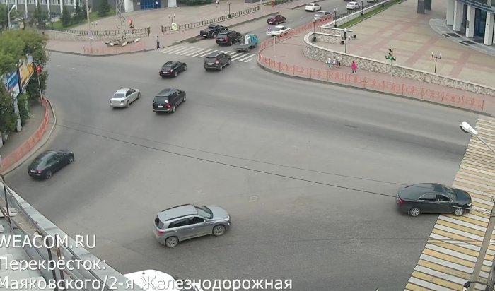 Новая онлайн-камера появилась в Иркутске на перекрестке улиц Маяковского и 2-й Железнодорожной