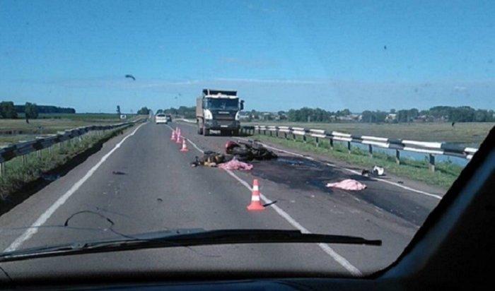 ВДТП под Братском погибли мотоциклист иего пассажир