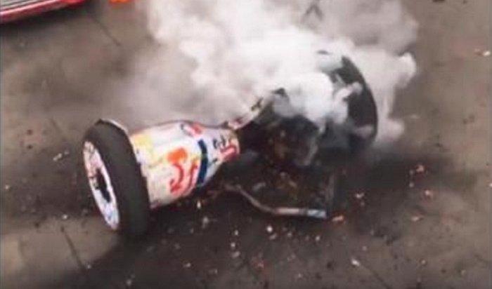 Вцентре Перми под ребенком взорвался гироскутер (Видео)