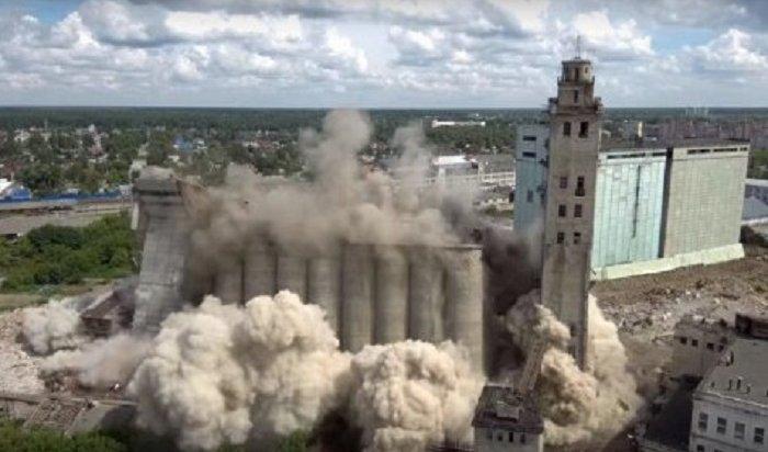 ВИваново красиво взорвали мукомольный комбинат (Видео)