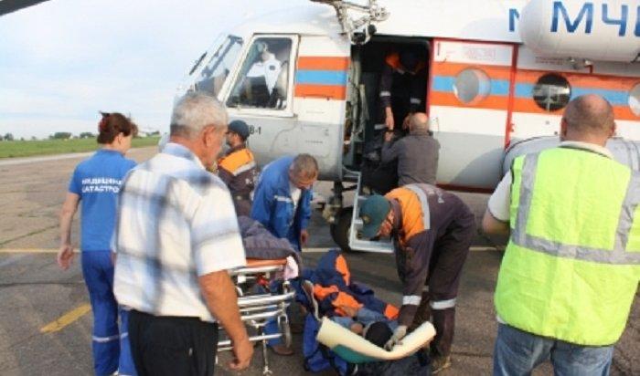 Вертолет МЧС России вылетел насевер Иркутской области запострадавшей туристкой