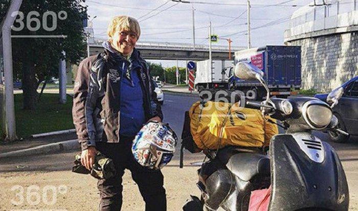 Смелая пенсионерка-байкер изКазани доехала доБайкала