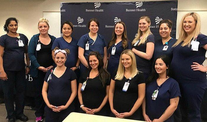 В одной из больниц США одновременно забеременели 16 медсестер