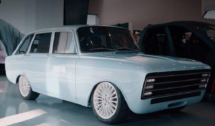 «Калашников» представил российский электромобиль встиле ретрофутуризма