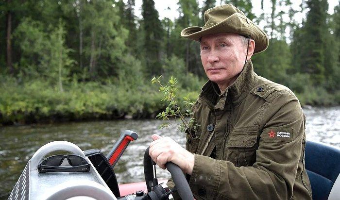 Путин отдохнул наЕнисее сШойгу иБортниковым (Видео)