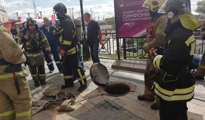 Силовой кабель загорелся втоннеле в130-м квартале Иркутска