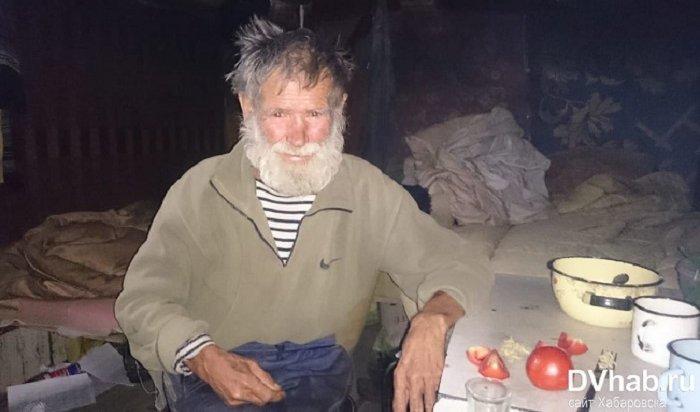 Пенсионер изХабаровска 10лет прожил вземлянке вдикой природе