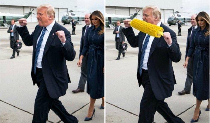 Странный жест Трампа насмешил интернет