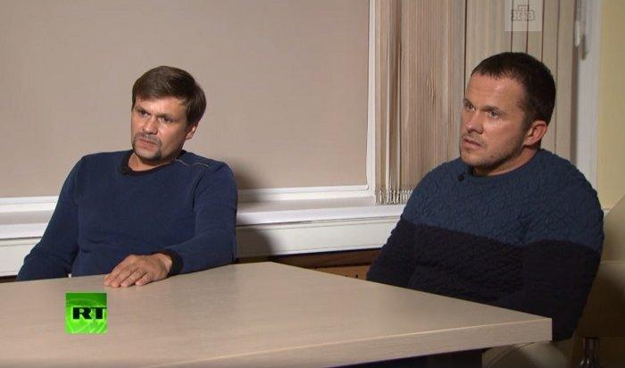 «Отравители Скрипалей» Петров иБоширов дали эксклюзивное интервью Маргарите Симоньян (Видео)