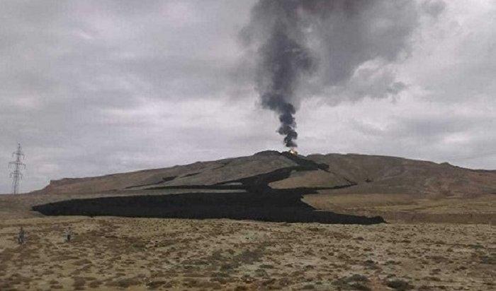 ВАзербайджане произошло извержение крупного грязевого вулкана