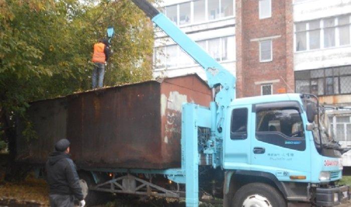 ВОктябрьском округе Иркутска снесли более 170незаконных гаражей