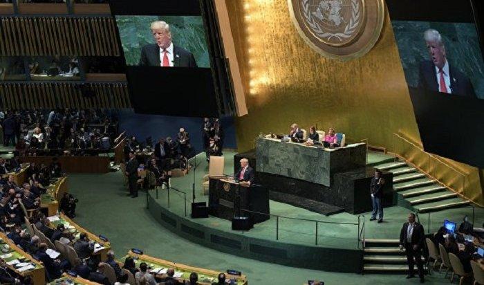 Выступление Дональда Трампа наГенассамблее ООН вызвало смех взале (Видео)