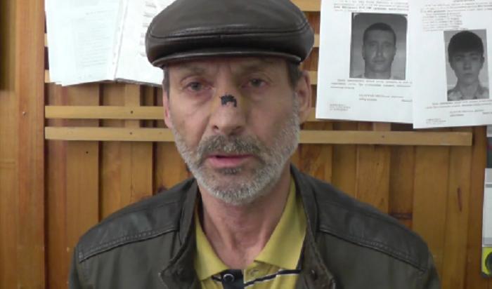 ВБратске пьяный старик-разбойник пошел сножом посалонам сотовой связи просить набутылку (Видео)