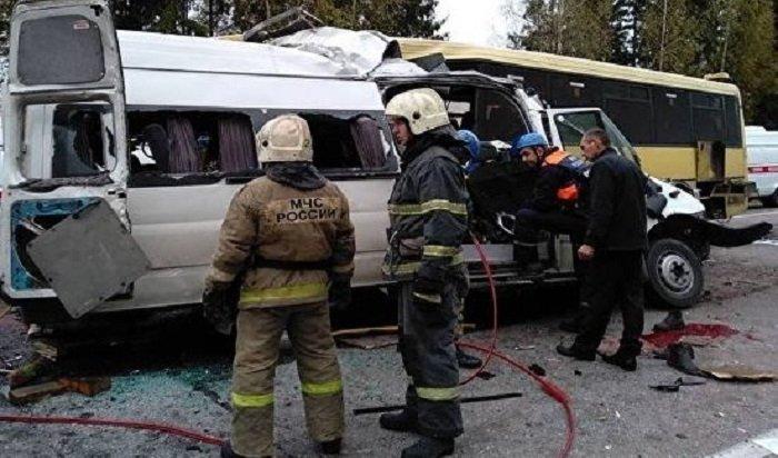ВТверской области вДТП савтобусом имаршруткой погибли 13человек (Видео)