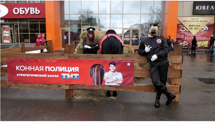 ВИркутске появился конь-полицейский, охраняющий стратегический запас сена