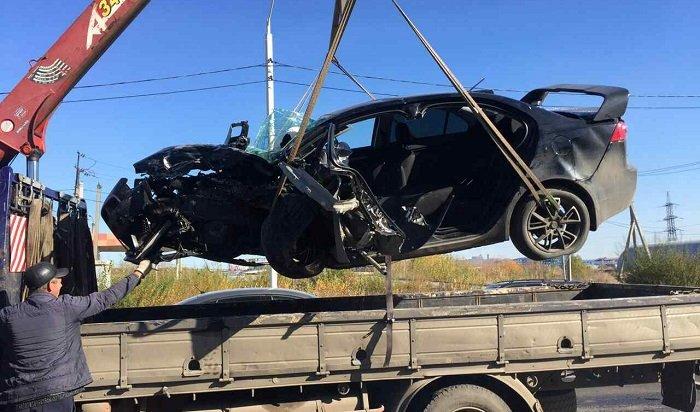 Водитель Mitsubishi, пострадавший вДТП наулице Мира вИркутске, скончался вбольнице (Видео)