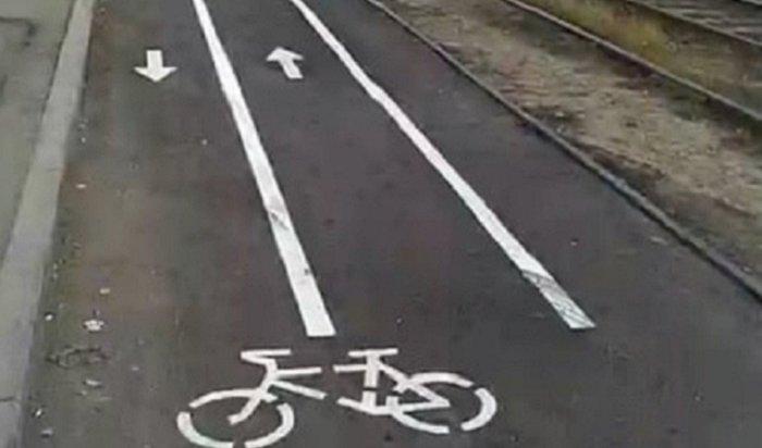 На Декабрьских Событий в Иркутске появилась отдельная полоса для велосипедистов