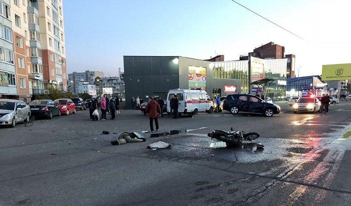 Мотоциклист погиб вДТП вАнгарске (Видео)