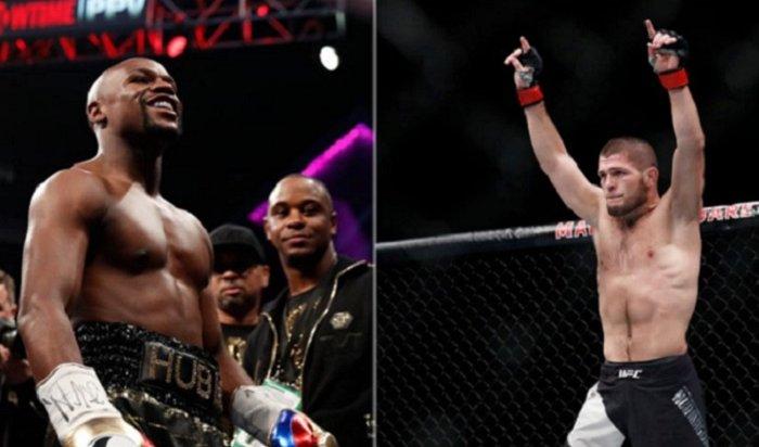 Чемпион UFC Хабиб Нурмагомедов вызвал набой непобедимого боксера Флойда Мейвезера (Видео)