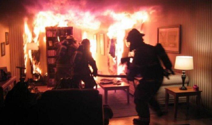 Минувшей ночью напожарах вИркутской области погибли два человека