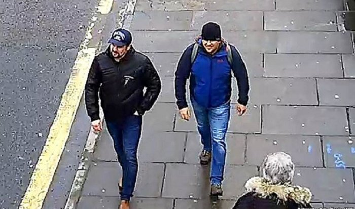 Скотланд-Ярд обнародовал видео прогулок поСолсбери Петрова иБоширова (Видео)